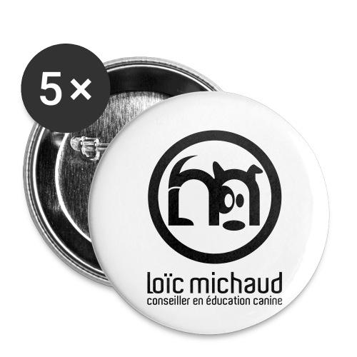 LOGO ROND TYPE 64 - Lot de 5 petits badges (25 mm)