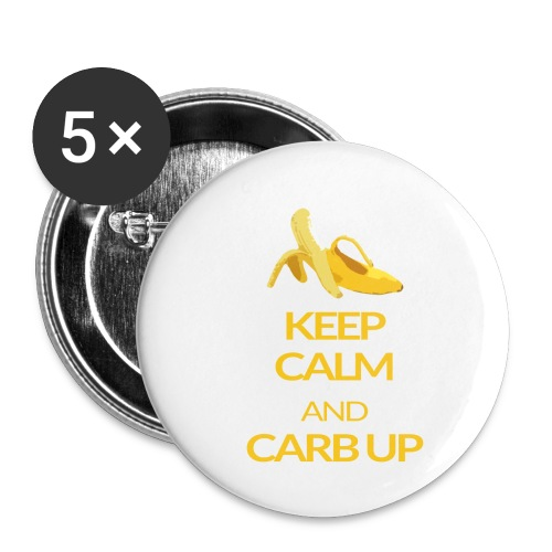 KEEP CALM and CARB UP - Buttons klein 25 mm (5er Pack)