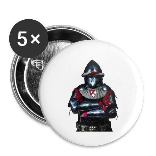 chevalier.png - Lot de 5 petits badges (25 mm)