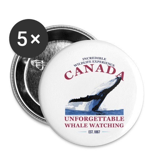 CANADA - WHALE WATCHING - Buttons klein 25 mm (5er Pack)