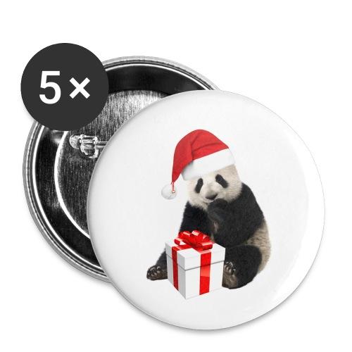WEIHNACHTS-PANDA - Buttons klein 25 mm (5er Pack)