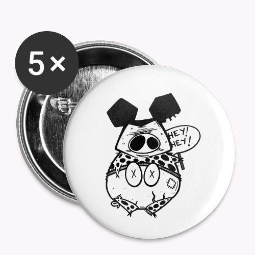 ugly pig - Confezione da 5 spille piccole (25 mm)