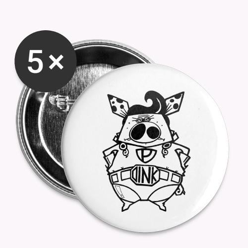 super oink - Confezione da 5 spille piccole (25 mm)