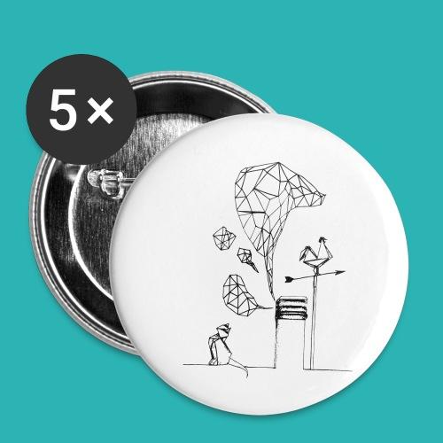 Carta_gatta-png - Confezione da 5 spille piccole (25 mm)
