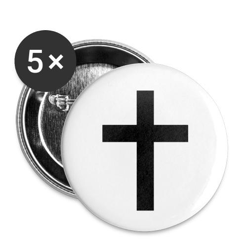 Cross - Små knappar 25 mm (5-pack)