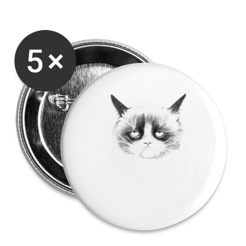 Grumpy Cat - Buttons small 1''/25 mm (5-pack)