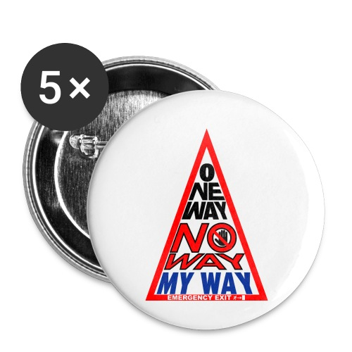 No way - Confezione da 5 spille piccole (25 mm)