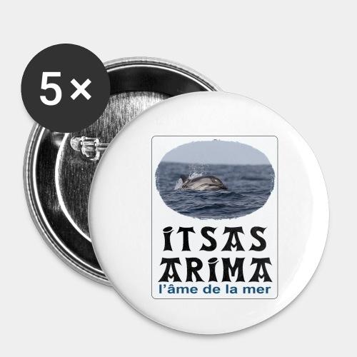 Dauphin - Lot de 5 petits badges (25 mm)