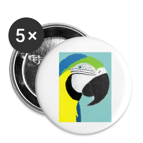 Parrot, new - Rintamerkit pienet 25 mm (5kpl pakkauksessa)