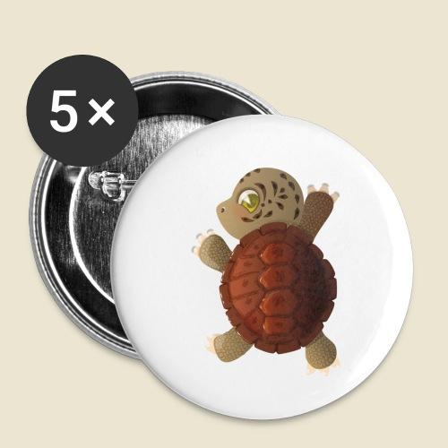 Bébé tortue - Lot de 5 petits badges (25 mm)