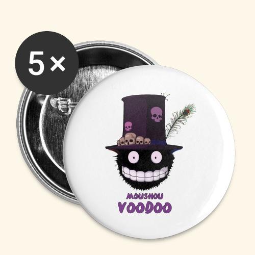 voodoo - Lot de 5 petits badges (25 mm)