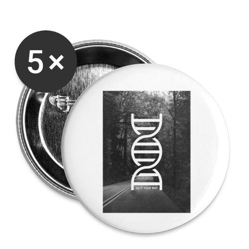 Fotoprint DNA Straße - Buttons klein 25 mm (5er Pack)