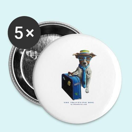 The Traveling Dog - Buttons small 1''/25 mm (5-pack)