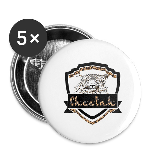 Cheetah Shield - Buttons small 1''/25 mm (5-pack)
