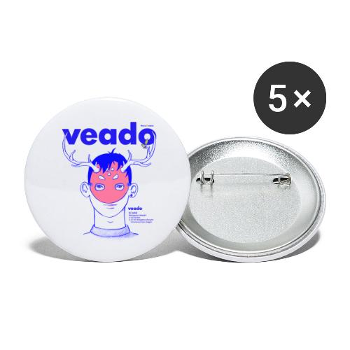 Veado - Paquete de 5 chapas pequeñas (25 mm)