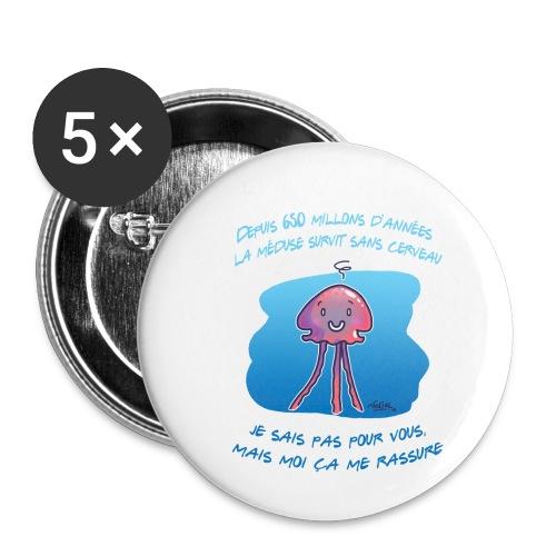 Meduse - Lot de 5 petits badges (25 mm)