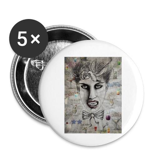 Crazy Cocktail - Buttons klein 25 mm (5er Pack)