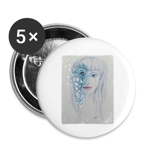 Winter Tears - Buttons klein 25 mm (5er Pack)