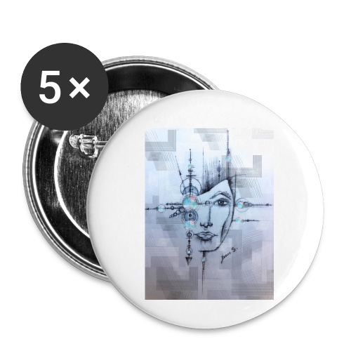 Space - Buttons klein 25 mm (5er Pack)