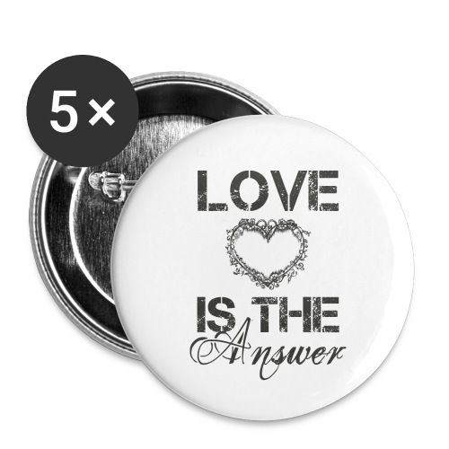 Love is the answer - Buttons klein 25 mm (5er Pack)