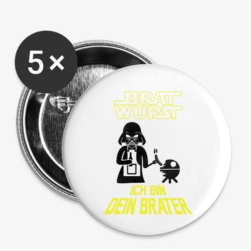 Ich bin dein Brater - Buttons klein 25 mm (5er Pack)