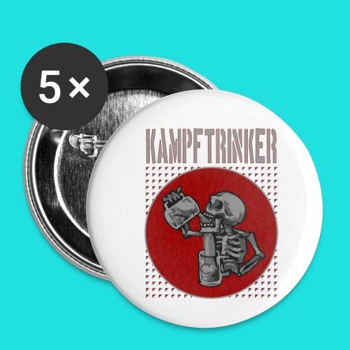 Kampftrinker - Buttons klein 25 mm (5er Pack)
