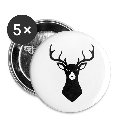 Caribou 9 - Lot de 5 petits badges (25 mm)
