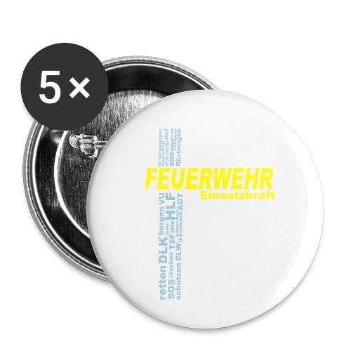 Feuerwehr Einsatzkraft - Buttons klein 25 mm (5er Pack)