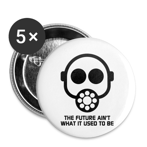 The Future ain't what it used to be - Buttons small 1''/25 mm (5-pack)