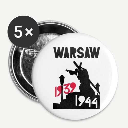 Warsaw 1939-1944 - Przypinka mała 25 mm (pakiet 5 szt.)