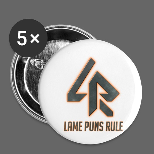 Lame Puns Rule: Logo - Buttons small 1''/25 mm (5-pack)