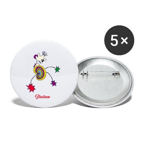Starteen - Lot de 5 petits badges (25 mm)