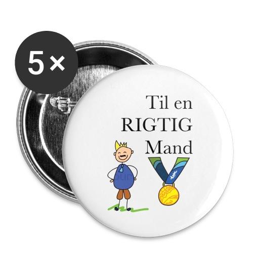 En rigtig mand - Buttons/Badges lille, 25 mm (5-pack)