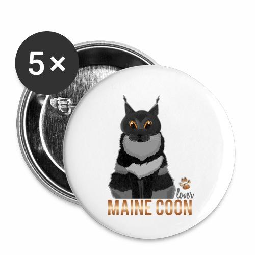 Maine Coon lover - Lot de 5 petits badges (25 mm)