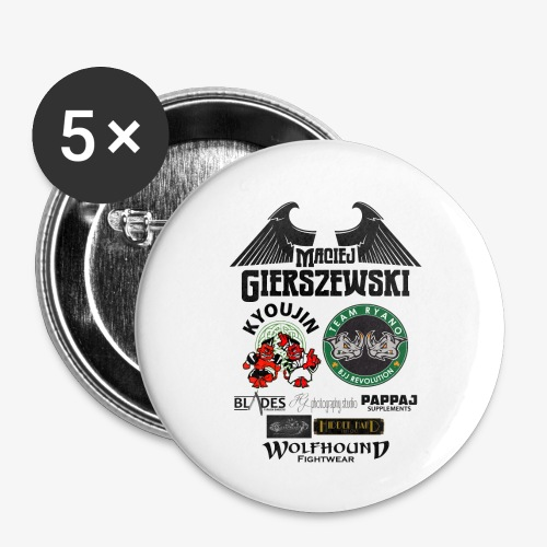 MACIEJ BACK png - Buttons small 1''/25 mm (5-pack)