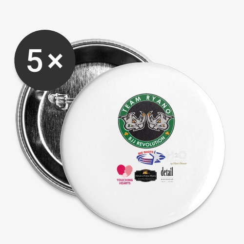 andy murphy back 0617 png - Buttons small 1''/25 mm (5-pack)