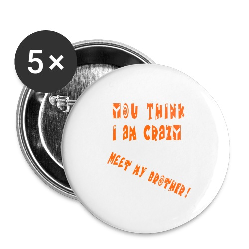 Crazy Brother - Rintamerkit pienet 25 mm (5kpl pakkauksessa)
