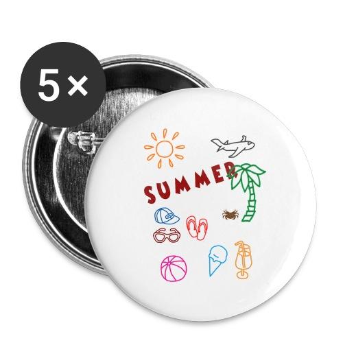 Summer - Rintamerkit pienet 25 mm (5kpl pakkauksessa)
