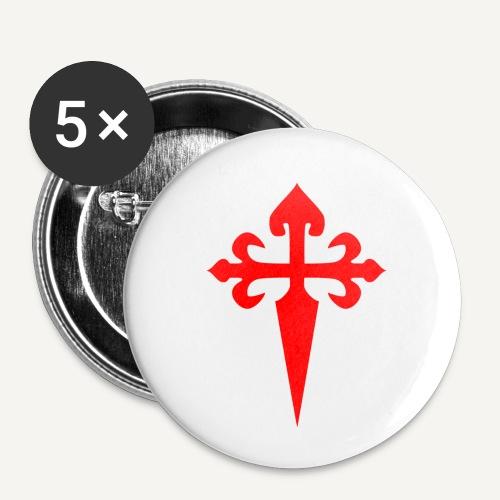 cross santiago - Przypinka mała 25 mm (pakiet 5 szt.)