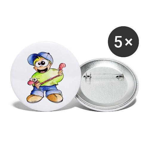 Elastizitätstest - Buttons klein 25 mm (5er Pack)