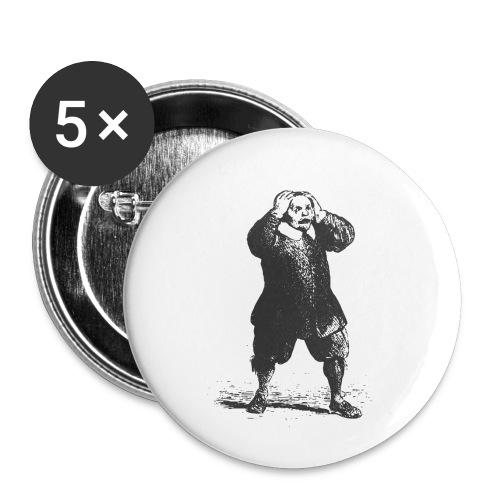 GoClassic | Don Abbondio | I Promessi Sposi - Confezione da 5 spille piccole (25 mm)