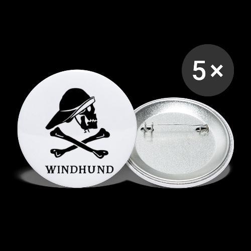 ~ Windhund ~ - Buttons klein 25 mm (5er Pack)