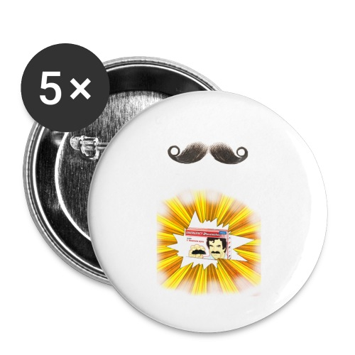 Moustache ad - Buttons small 1''/25 mm (5-pack)