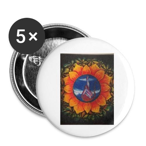 Children of the sun - Liten pin 25 mm (5-er pakke)