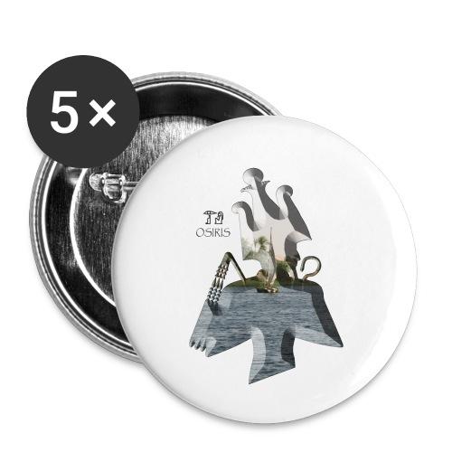 Altägyptischer Gott OSIRIS - Buttons klein 25 mm