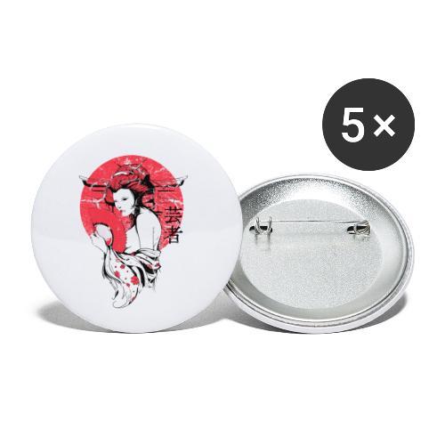 Japan Sonne - Buttons klein 25 mm (5er Pack)