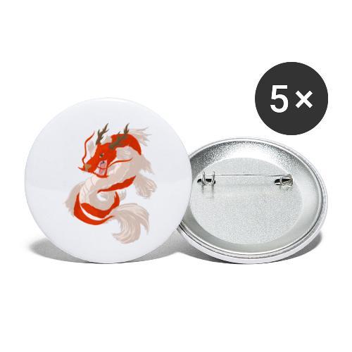 Dragon koi - Confezione da 5 spille piccole (25 mm)