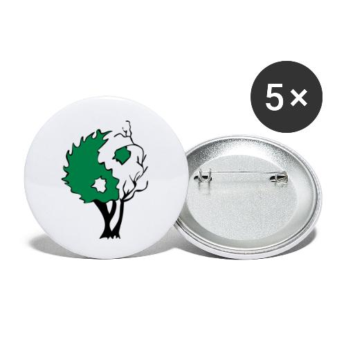 Yin Yang Arbre - Lot de 5 petits badges (25 mm)