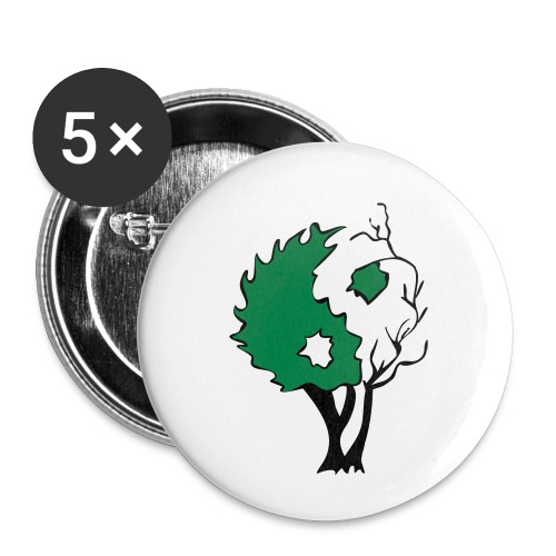 Yin Yang Arbre - Badge petit 25 mm
