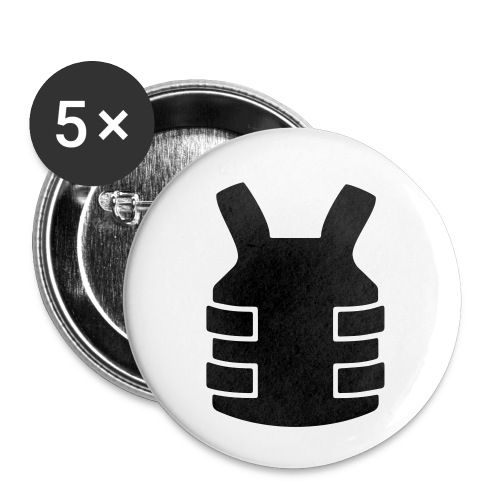 Bullet Proof Design - Buttons small 1''/25 mm (5-pack)
